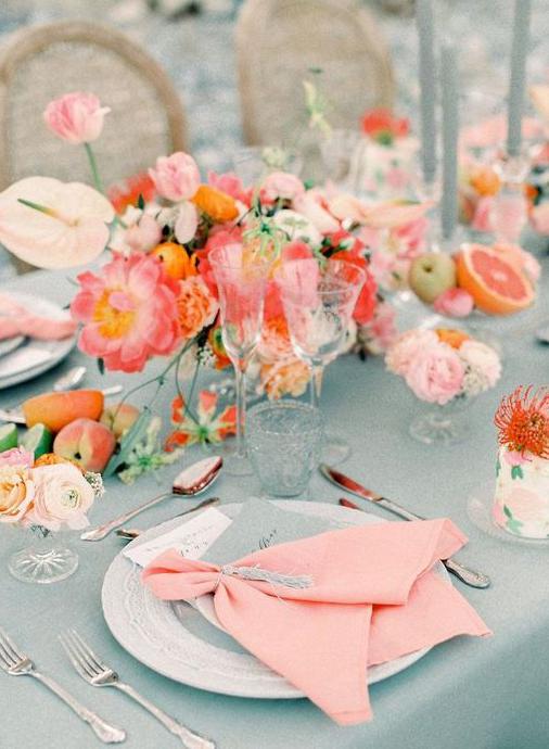 ¿cómo integrar el color coral en tu boda?